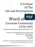 Critique of Life and Development of the Word of God 1991 by Clark, Maney, Noetzel