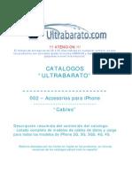 002 - Accesorios Para iPhone - Cables - UT