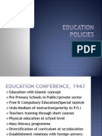 Education Policies of Pakistan a Critical Lanalysis