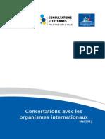 Rapport Concertations Avec Les Organismes Internationaux VF