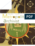 Metropolitan Archivist, Vol. 18, No. 2