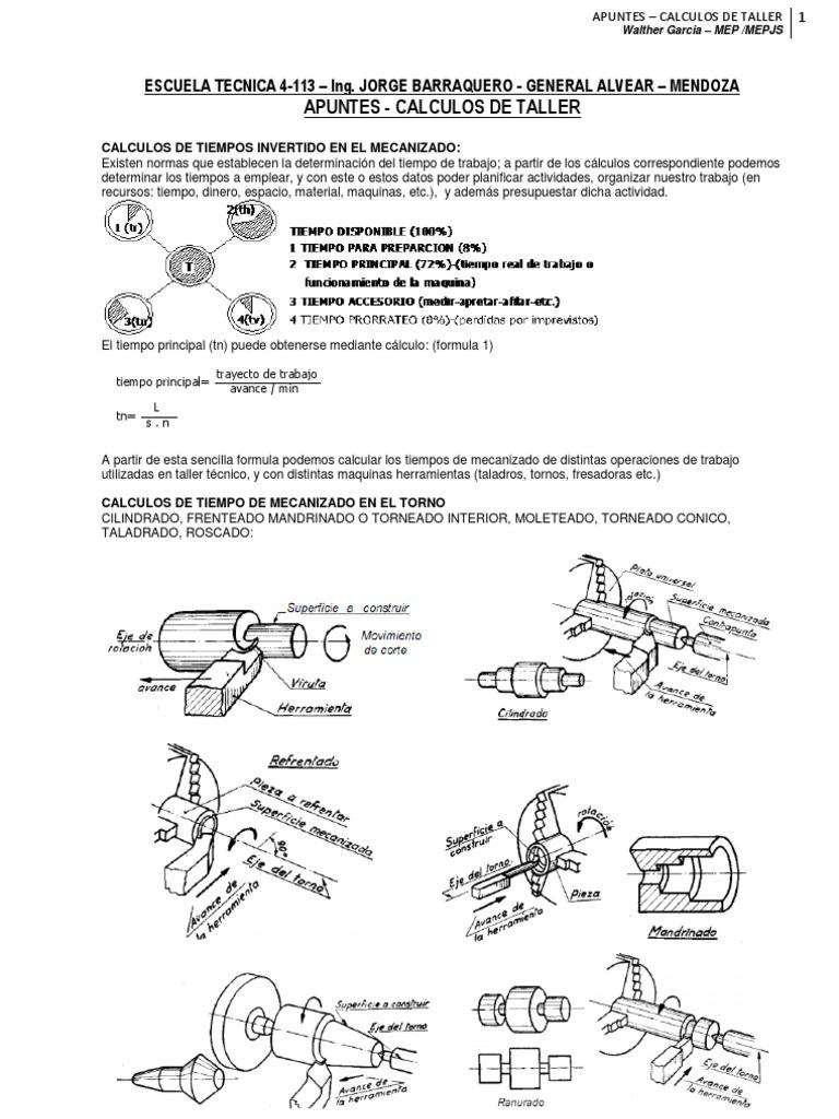 Apuntes Tiempos de Mecanizado 2