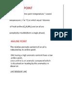 Analine Point and Diesel Index