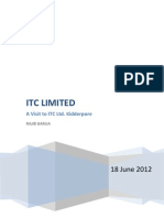 An ITC Visit Report and Project