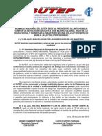 Nota de Prensa SUTEP