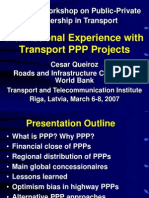 Cesar Queiroz International Experience With Transport Ppp Projects