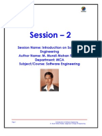 Introduction on Software Engineering_Murali Mohan Reddy_Vaageshwari College of Engineering_S2