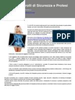 Newsletter Controlli di Sicurezza e Protesi