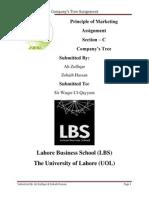 Marketing Assignment (Company's Tree)