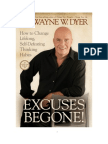 Excuses Be Gone By Wayne Dyer