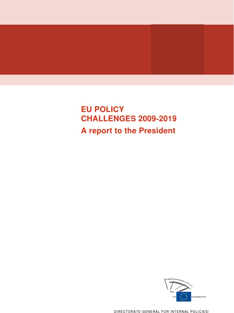 EU Policy Challenges 2009-19 - Full Text | European Union ...