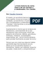 La terrible y triste historia de cierta prensa peruana y de sus serviles y chicheñores desalmados. Por Claudia Cisneros