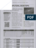 Consumer Reports Buying Guide 2012 - Computer Desktop