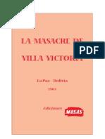 La Masacre de Villa Victoria. 8 de Mayo de 1950