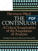 Hermann Weyl - The Continuum