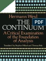 Hermann Weyl - The Continuum