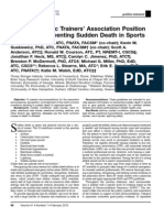 Preventing Sudden Death Position Statement 2