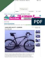MTB Scott Carbon 830 Euro Timisoara