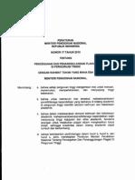 Permen No 17 Th 2010 Tentang Pencegahan Dan Penanggulangan Plagiat