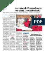 Crisis Europa afecta a sector textil Peru