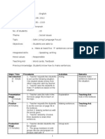 Lesson Plan for English Form 2