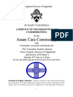 Anam Cara Community Annual Thanksgiving Service 2012
