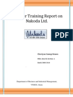 Summer Training Report on Nakoda Ltd