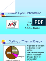 Turbine Cycle Optimisation