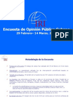 2012 June 5 Survey of Cuban Public Opinion, February 29-March 14, 2012 -- Spanish Version