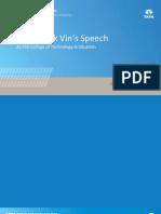 How to achieve success-Speech by Harrick Vin