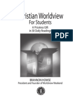 Christian Worldview for Students Vol 1