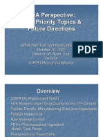 FDA Perspective - High Prority Topics & Future Directions