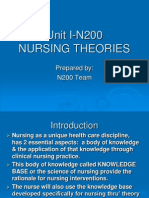 Unit I-n200 Nursing Theories