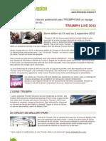 Itineraires Evasion TRIUMPH LIVE 2012