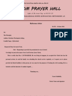 College Reference Letter