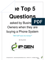 The Top 5 Questions Asked by Businesses When They Are Buying a Phone System