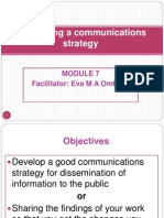 Communication Strategy PP-Version for WEDNESDAY 2nd November
