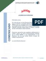 Realceppa Comunicado Presidente Patrocinador Arion