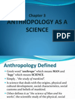 Anthropology as a Science