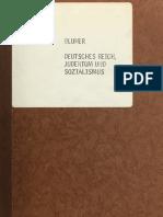 Blüher - Deutsches Reich, Judentum und Sozialismus