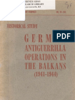 German Antiguerrilla Operations in the Balkans 1941 1945
