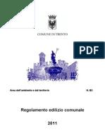Regolamento Edilizio di Trento (TN) - 2011