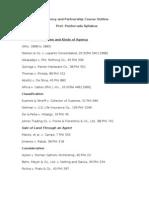 Agency and Partnership Syllabus-Prof Ponferrada