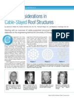 Design Considerations in Cable-Stayed Roof Structures(3)
