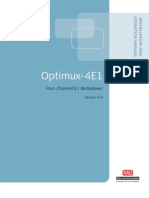 Manual Optimux 4E1 6.0