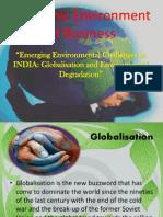 Emerging Environmental Changes