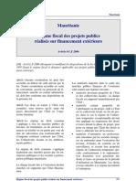 Mauritanie - Regime Fiscal Projets Publics
