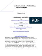 Psycho-Educational Guidelines for Handling Conflict and Fights