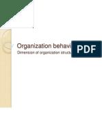 Organization Behavior Dimensions