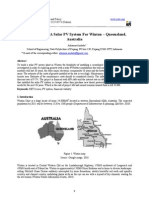 Design Needs of A Solar PV System For Winton – Queensland, Australia